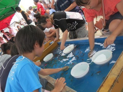 行方金魚すくいまつり(全国金魚すくい選手権大会(関東大会))