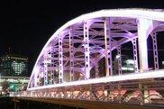 冬の開運橋ライトアップ