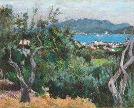 """「小豆島は南仏の光と似ている」と感じて描く神下氏の小豆島は、南仏の印象をまといながら""""小豆島の光""""が描かれている"""