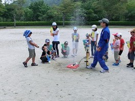 広島市森林公園 ペットボトルロケットを打ち上げよう