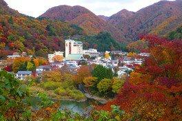 川治温泉の紅葉
