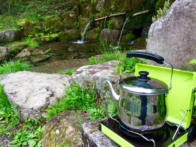 休暇村茶臼山高原 日曜の朝限定の源流コーヒーお散歩会 2020(4月)