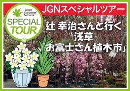 NHK趣味の園芸講師 辻幸治さんと行く浅草「お富士さん植木市」