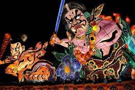 笠間のまつり「光のオブジェ(ねぶた)&神輿パレード」