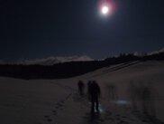 星空の散歩 夜の雪原を歩こう!!暑いコーヒータイムあります