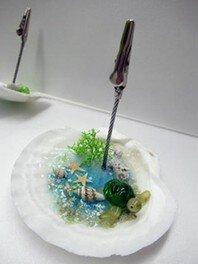 貝殻でメモスタンド作り(なかがわ水遊園)