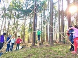 森の秘密基地づくり