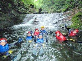 シャワークライミング「水の渓谷!ウォーターキャニオン」長瀞近郊 アウトドア自然体験