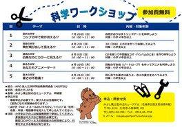 科学ワークショップ「動きの科学 あなたもアニメーター!!」
