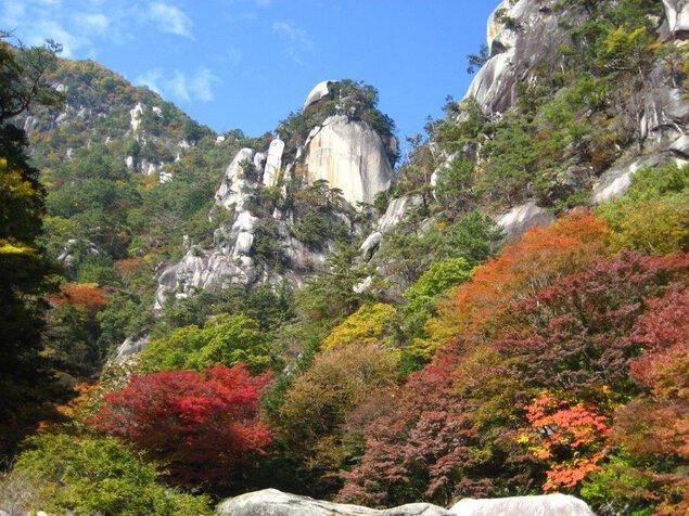 御嶽昇仙峡の紅葉
