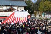広島護国神社 節分祭と福豆まき