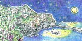 Kobe 満月バール in the island