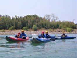 ぐんま 利根川「2人乗りラフティング」 川下り体験 アウトドアツアー