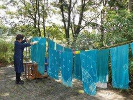 国営昭和記念公園 ハーブでクラフト体験「藍の生葉染め体験」