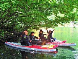 新緑・穴場シリーズ「秘境・レイクSUP探検クルーズ」渡良瀬渓谷・草木湖 アウトドア自然体験