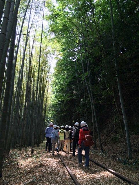 旧国鉄倉吉線廃線跡トレッキングオープンデー2019 ~春~