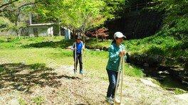 水辺公園 竹馬遊び