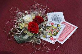 アリスの日 ハートの女王のバラのコサージュ作り