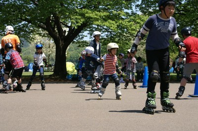 インラインスケート教室 in みちのく公園(9月)