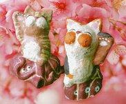 土鈴と張り子の招き猫展 サクラと雛とタイ 海老天たまこ