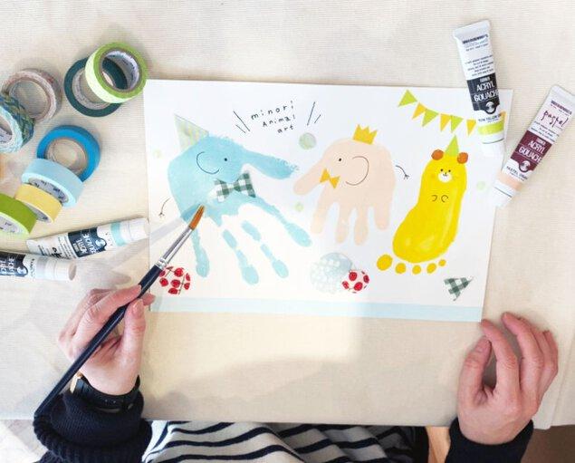 子どもの成長記録を可愛く残しましょう 手形・足形アートづくり<中止となりました>