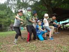 ヤックス自然学校「第42回サマーキャンプ:緑の忍者キャンプ」