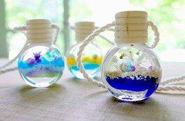 手作りを楽しもう 夏のスペシャルメニュー!「マリンハーバリウムのミニボトル」