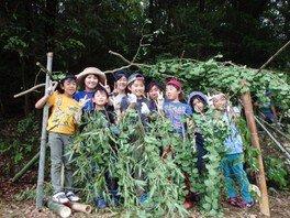 ヤックス自然学校「第42回サマーキャンプ:とことん森のかくれ家作り」