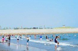 【海水浴】月見ヶ丘海水浴場