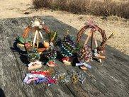 マツボックリのクリスマスツリー作り&クリスマスリース作り体験