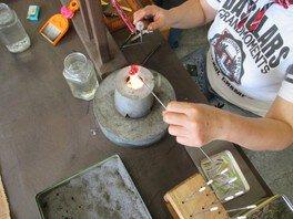 ガラス細工講座 ガラス玉作りに挑戦!