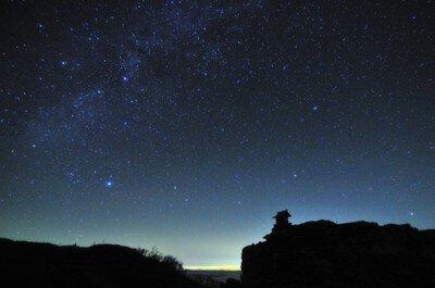 剣山頂上ヒュッテ天体観測会