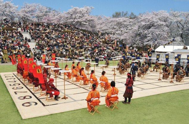 第64回 天童桜まつり「人間将棋」