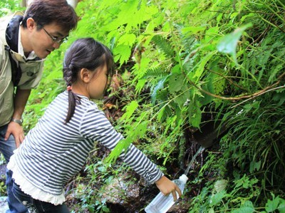 森の湧き水探検ハイキング