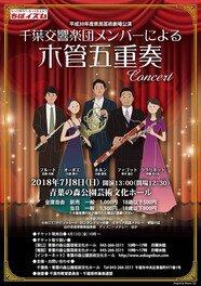 平成30年度県民芸術劇場公演 千葉交響楽団メンバーによる木管五重奏