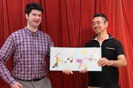 英語で巨大紙芝居&親子で作るポップアップメッセージカード教室
