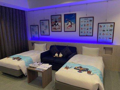 「ピングー」×「EJアニメホテル」コラボルーム