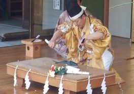 春の例大祭・庖丁式奉納(大漁祈願祭)