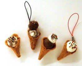 猫毛フェルトの教室 京都「猫毛アイスクリーム」