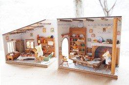 初夏限定 木工「四角型ドールハウス」