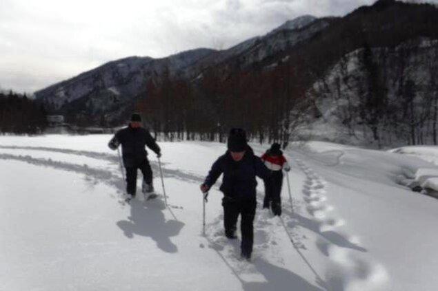 冒険小屋 スノーシュー半日コース