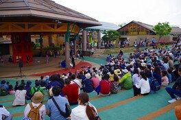 GWは「キッズウィークわいわいカーニバル」。園内ステージにて大人も楽しめるイベントを日替わりで開催する