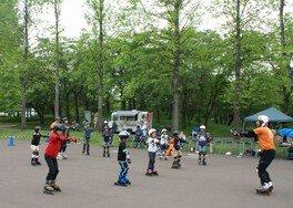 インラインスケート教室 in みちのく公園(7月)