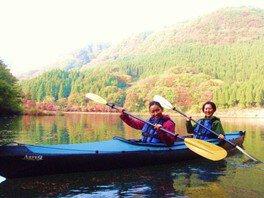 秋のカヌー・カヤック体験 碓氷軽井沢 アウトドア自然体験