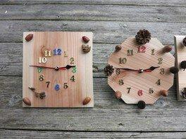 県立なか・やちよの森公園 夏休み宿題お助け企画「森の時計づくり」