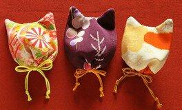 和布で「猫毛袋」の教室@猫毛祭り