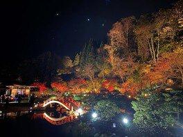 歴史公園 えさし藤原の郷の紅葉