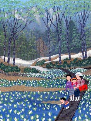 原田泰治と行く 花を見る旅 ―信州花フェスタ2019によせて―
