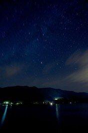 ストロベリームーンの日美味しいスイーツを食しながら、幸せGET! 星空(夜)の散歩湖面
