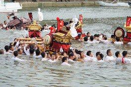 山口八幡神社、印南八幡神社、印南港